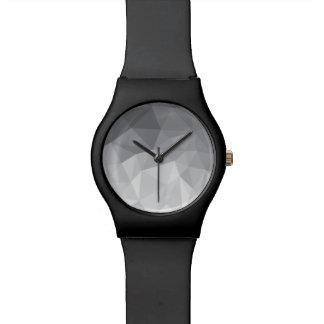 gray polygons watch
