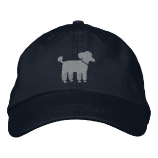 Gray Poodle Dog Logo Embroidered Hat