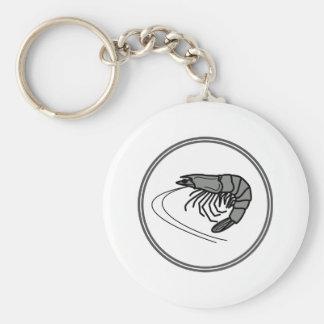 Gray Prawn - Fish Prawn Crab Collection Basic Round Button Key Ring