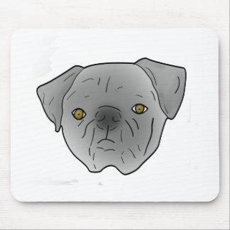 gray pug mouse pad