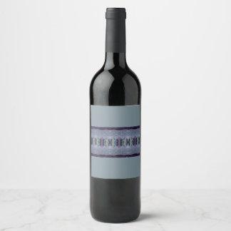 gray purple stripe wine label