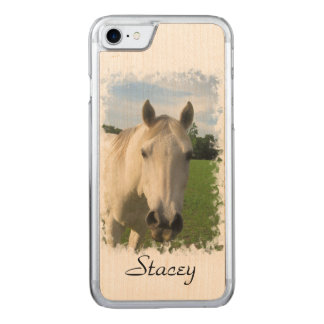Gray Quarter Horse Carved iPhone 8/7 Case