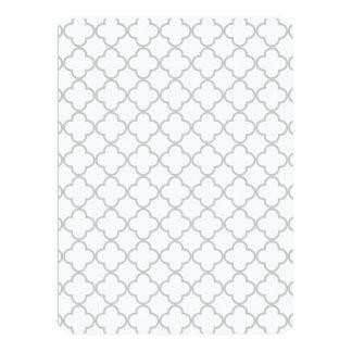 Gray Quatrefoil Pattern 17 Cm X 22 Cm Invitation Card