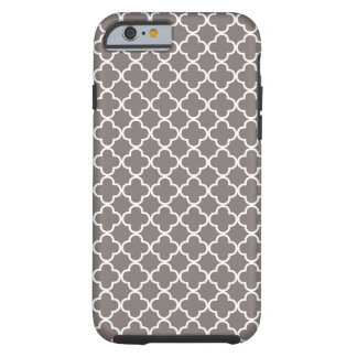 Gray Quatrefoil Pattern Tough iPhone 6 Case
