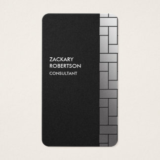 Gray Rectangles Creative Elegant Business Card