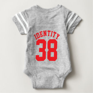 Gray & Red Baby | Sports Jersey Design Tee Shirt