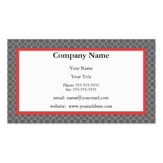 Gray & Red Business Card