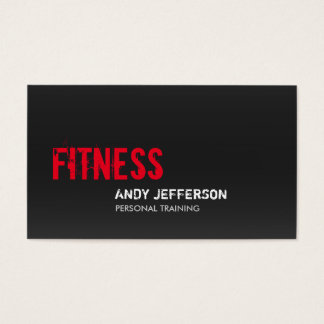 Gray Red Personal Trainer Sport Fitness