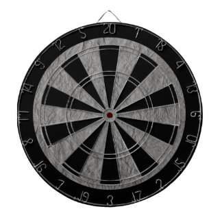 Gray Retro Crumpled Paper Dartboard With Darts