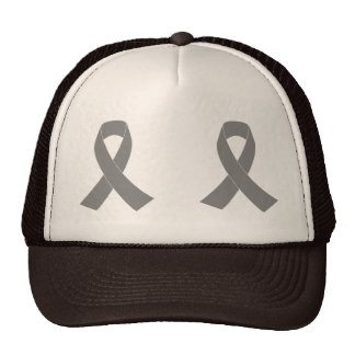 Gray Ribbon Awareness - Zombie, Brain Cancer Cap