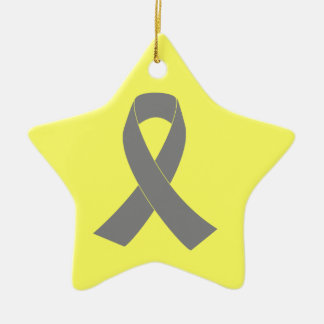 Gray Ribbon Awareness - Zombie, Brain Cancer Christmas Ornament