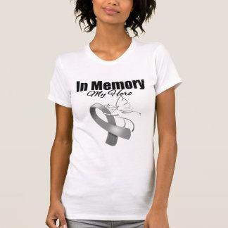 Gray Ribbon In Memory of My Hero Shirt
