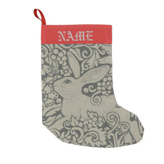 Gray Shades Rabbit Christmas Stocking Personalized