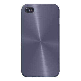 Gray Shiny Stainless Steel Metal iPhone 4/4S Cover