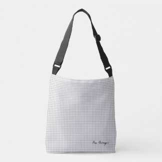 Gray_Silver_Gingham_ Crossbody Bag