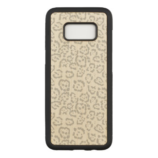 Gray Snow Leopard Cat Animal Carved Samsung Galaxy S8 Case