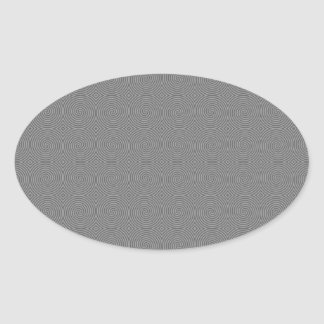 Gray spiral design. Fun modern pattern. Oval Sticker