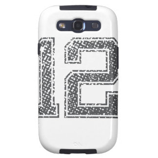 Gray Sports Jersey #12 Samsung Galaxy SIII Cases
