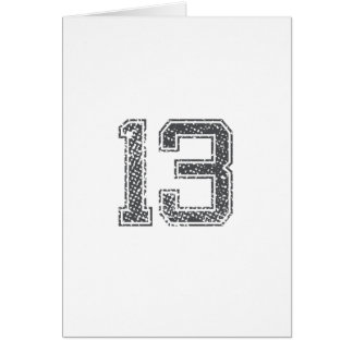 Gray Sports Jersey #13 Cards