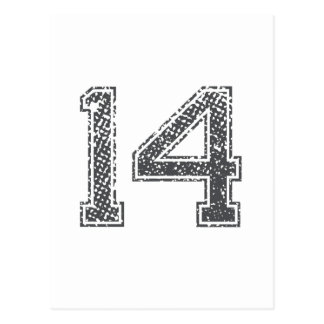 Gray Sports Jersey #14 Post Cards