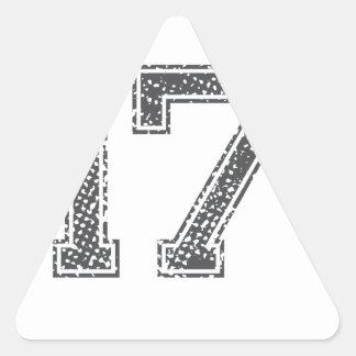 Gray Sports Jersey #17 Triangle Stickers