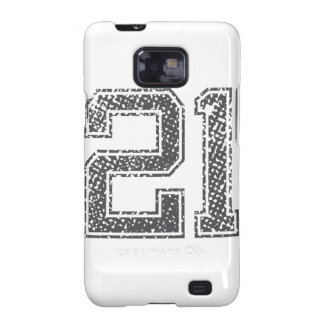 Gray Sports Jersey #21 Samsung Galaxy SII Covers