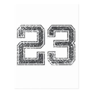 Gray Sports Jersey #23 Postcards