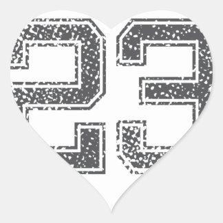 Gray Sports Jersey #23 Heart Stickers