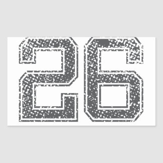 Gray Sports Jersey #26 Rectangle Stickers