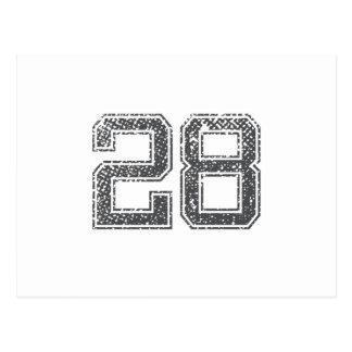 Gray Sports Jersey #28 Postcard