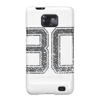 Gray Sports Jersey #30 Galaxy S2 Cases
