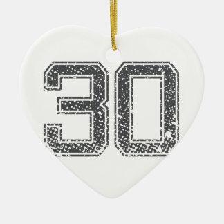 Gray Sports Jersey 30 Ornament