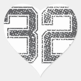 Gray Sports Jersey #32 Stickers