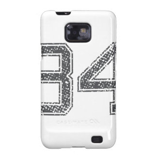 Gray Sports Jersey #34 Galaxy S2 Case