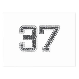 Gray Sports Jersey #37 Postcard