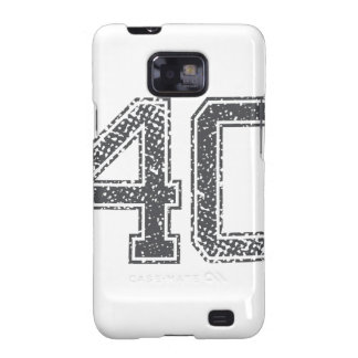 Gray Sports Jersey #40 Galaxy S2 Cover