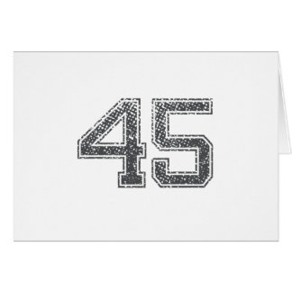 Gray Sports Jersey #45 Greeting Card