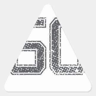 Gray Sports Jersey #50 Triangle Sticker