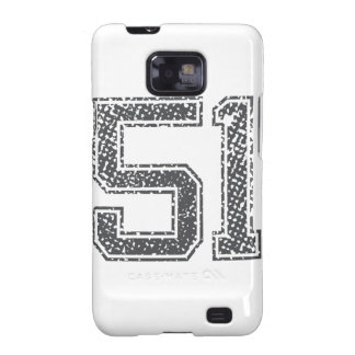 Gray Sports Jersey #51 Samsung Galaxy S2 Cases