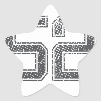 Gray Sports Jersey #52 Stickers