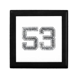 Gray Sports Jersey #53 Jewelry Box