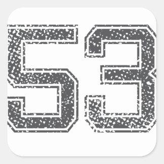 Gray Sports Jersey #53 Stickers