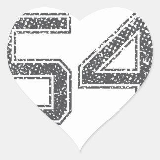 Gray Sports Jersey #54 Sticker