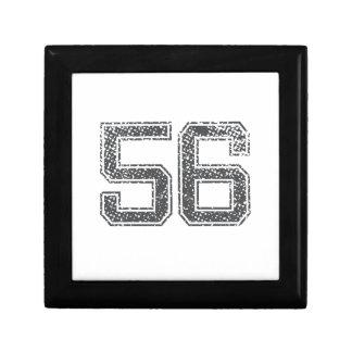 Gray Sports Jersey 56 Trinket Boxes