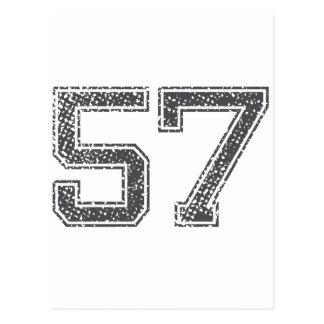 Gray Sports Jersey #57 Postcard