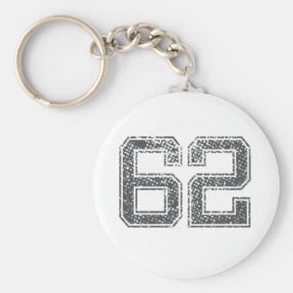 Gray Sports Jersey 62 Keychain