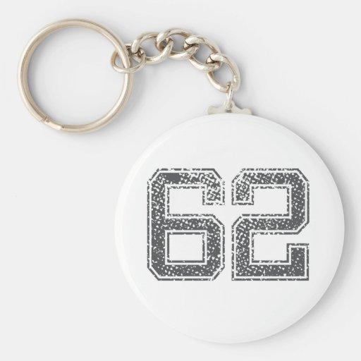 Gray Sports Jersey #62 Keychain