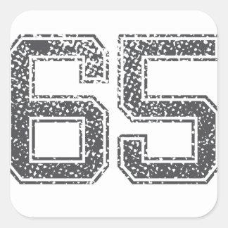Gray Sports Jersey #65 Sticker