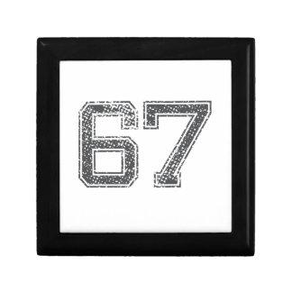 Gray Sports Jersey #67 Trinket Boxes