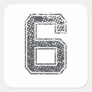 Gray Sports Jersey #6 Sticker